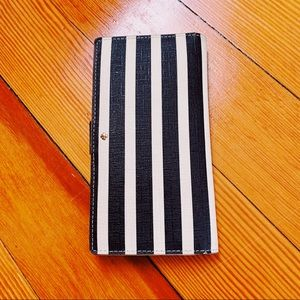 Kate Spade leather striped nautical wallet